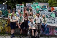 Gruppenfoto vor dem Parcour im Olympiapark
